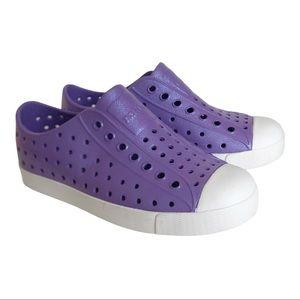 Native Purple Shimmer Jefferson Slip On Sneakers